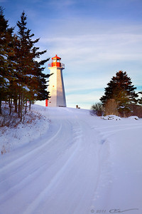 Cape George Lighthouse, Cape George Point, Nova Scotia, Canada.