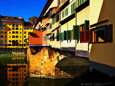 Florence. Ponte Vecchio. There are countless photos of Ponte Vecchio out there... With all modesty, I like this one the best... :)