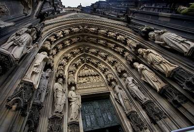 Cologne Cathedral entrance.