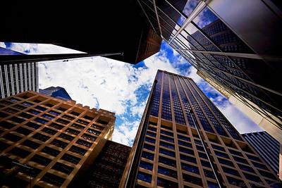 Buildings on Water Street, NYC
