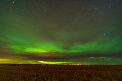 Aurora in Clouds from Home