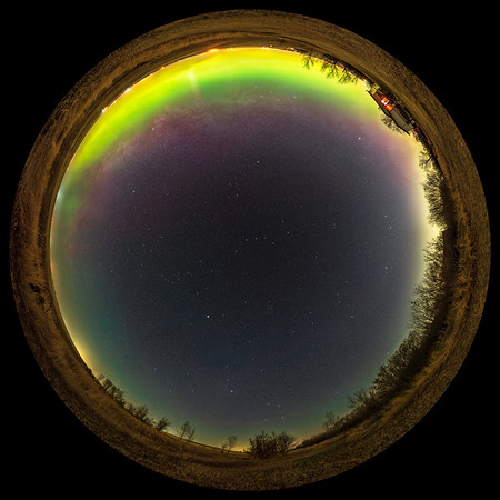 Panorama of the Milky Way-less Spring Sky
