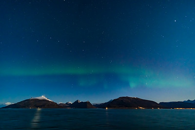 Faint Aurora from Norway with Big Dipper v1