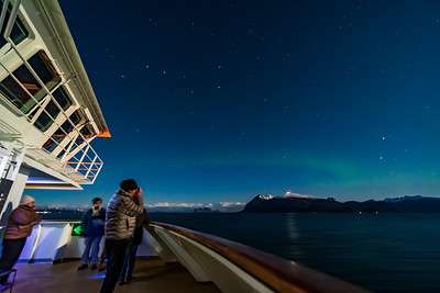 Faint Aurora with Big Dipper from Deck 6