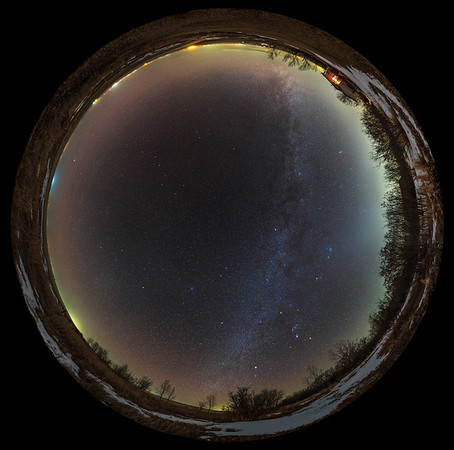 Winter Sky Panorama — 360° Spherical