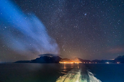 Orion in the South at Oksfjord, Norway