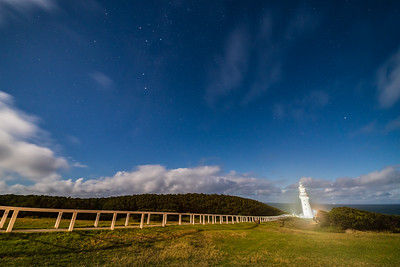 Southern Cross over Cape Otway Lighthouse