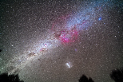 Milky Way from Sirius to Alpha Centauri