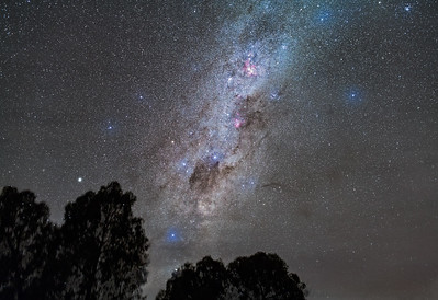 Southern Milky Way Rising in Clouds