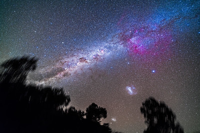 Southern Milky Way and Magellanic Clouds