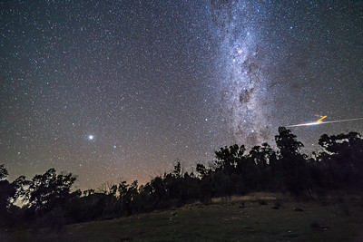 Southern Milky Way and Meteor