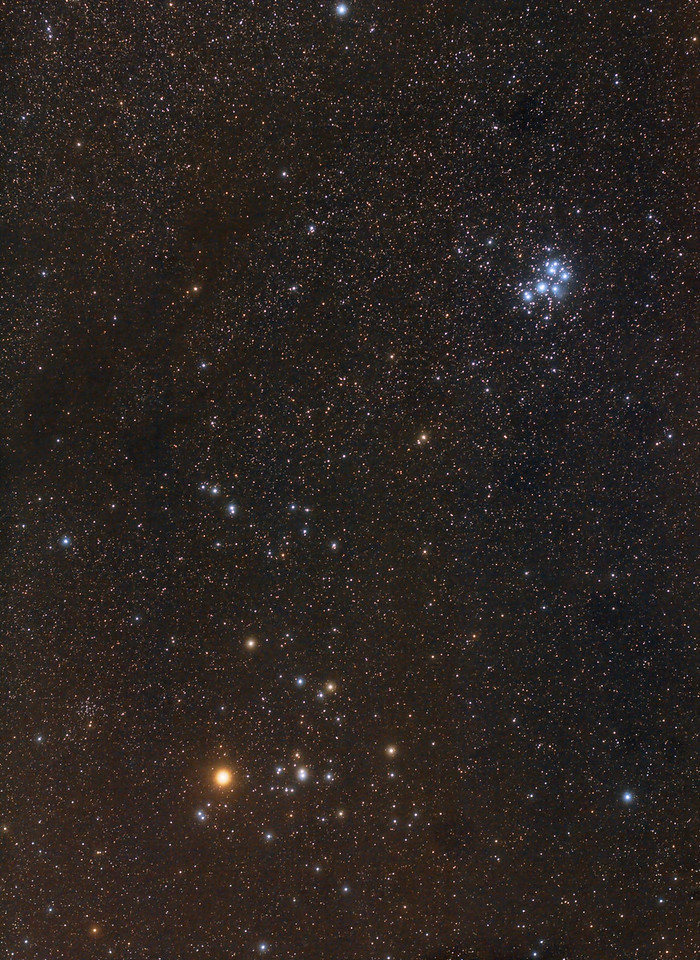 Pleiades and Hyades