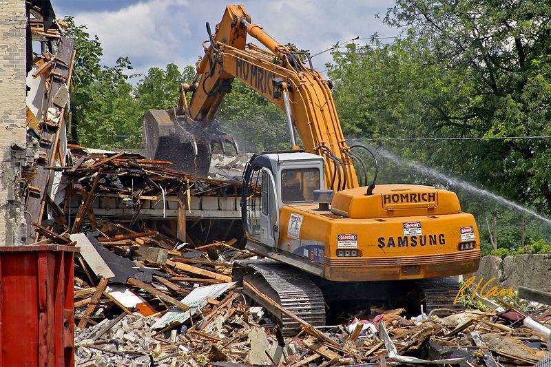 Building construction demolition.