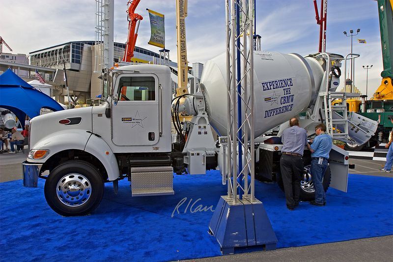 CONEXPO 2005, concrete construction: CBMW concrete mixer truck. Silver Lot at Las Vegas Convention Center. CONEXPO, Las Vegas, Nevada, March 15-19, 2005.