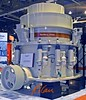 Construction stone and aggregates: Nordberg HP800 Cone Crusher for stone, 360-1,320 ton/hr, 151,200 lb weight. CONEXPO 2005. Las Vegas, Nevada, March 15-18, 2005.