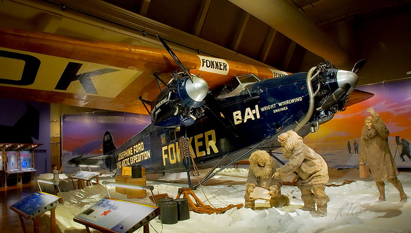 Josephine Ford, the Fokker trimotor airplane that flew Richard Byrd to the North Pole on his 1926 Polar expedition. Henry Ford Museum, Dearborn, Michigan. August, 2006.