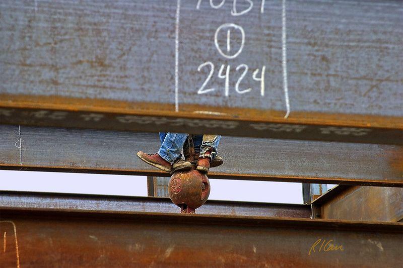 Riding the headache ball. YMCA, Ann Arbor, 2004. myconstructionphotos.smugmug.com