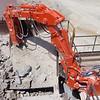 NPK B40 Boom crushing  rock