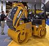 Earthmoving, asphalt construction: Case DV204 tandem drum vibratory roller: 28 kW/38 hp, 3,500 kg/7,700 lb, 1.3 m/51 in. wide. CONEXPO, Las Vegas, Nevada, March 15-19, 2005.