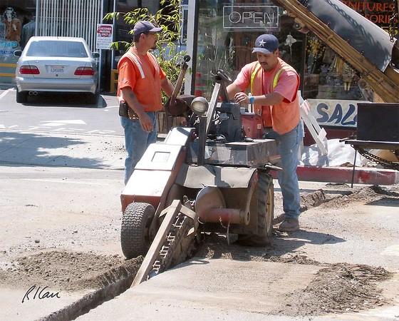 Asphalt Construction: paver, roller, hauler, loader, backhoe