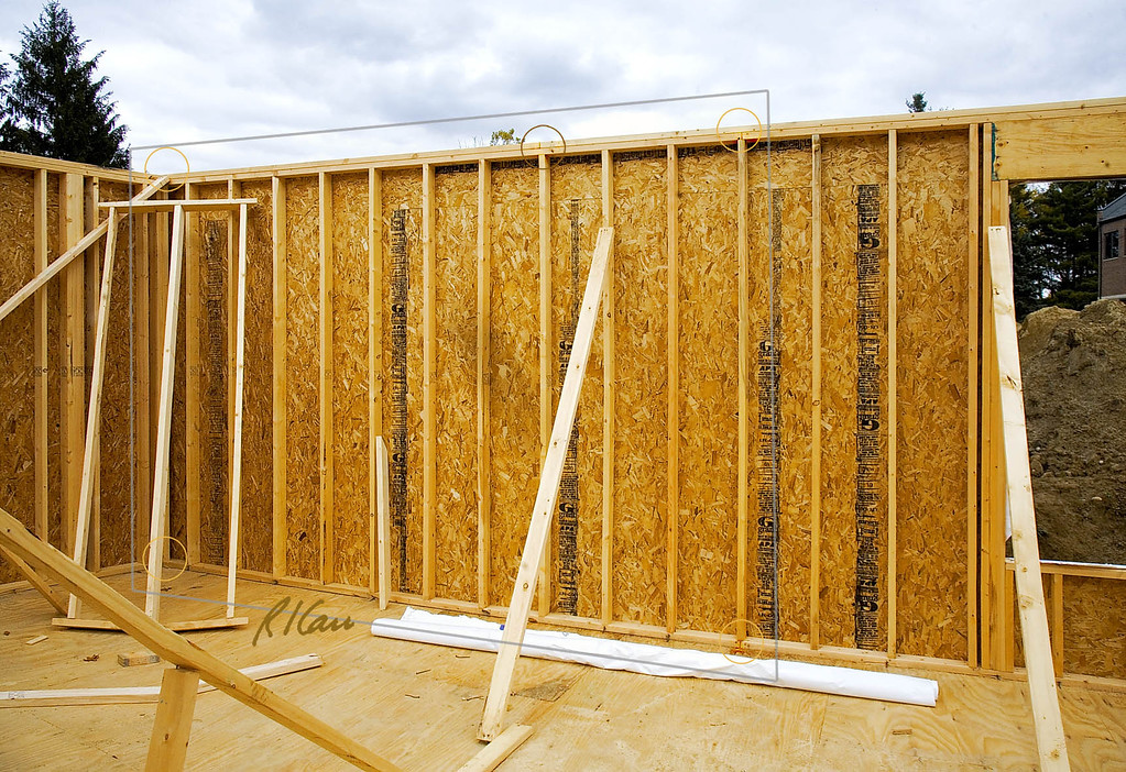 Wood Construction: frame, stick-built, frame, temporary support ...