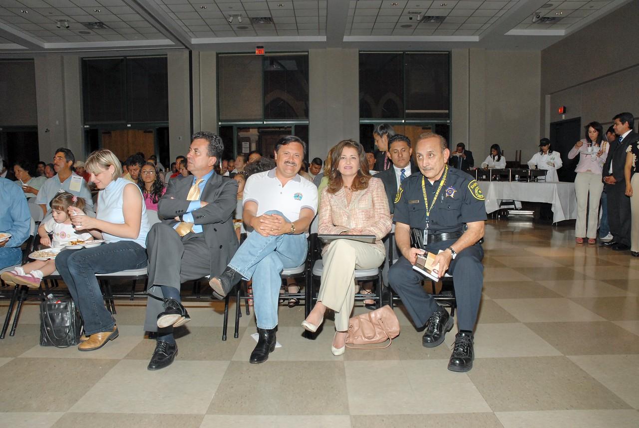Carlos Garcia de Alba Zepeda, Mexican Consul; Domingo Garcia; and Dallas Mayor Pro Tem Dr. Elba Garcia