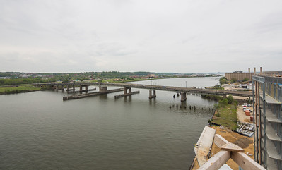 Latitude: 38.871098  Longtitude:  -77.00646   View of South Capital Bridge from Roof of Dock79 apt building