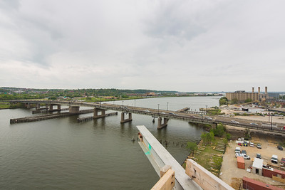Latitude: 38.871205   Longtitude:  -77.006083 View of South Capitol Bridge from rooftop  of Dock79 apt building