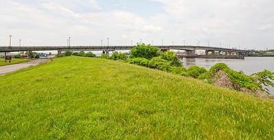 "Latitude 38º 52' 8.903"" ; Longtitude -77º 0' 9.258"" View of Bridge from Anacostia Park"