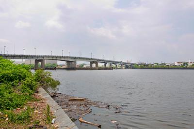 "Latitude 38º 52' 10.295"" ; Longtitude -77º 0' 7.912"" View of Bridge from Anacostia Park"