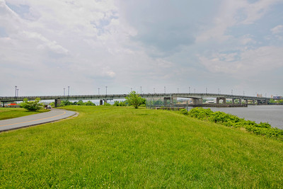"Latitude 38º 52' 9.856"" ; Longtitude -77º 0' 7.312"" View of Bridge from Anacostia Park"