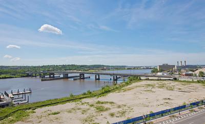 "Latitude 38º 52' 18.954"" ; Longtitude -77º 0' 24.403  View of Bridge from upper deck of Nationals Stadium"