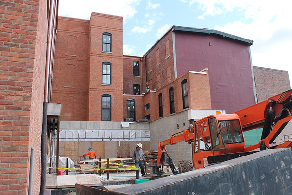 Construction at the Adelphi Hotel