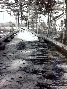 Beginning upgrade to island bridge, Oct 1950