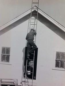 Building cabin #105, fall 1948