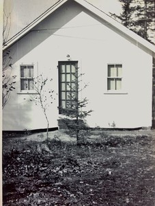 Newly built cabin #105, 1950