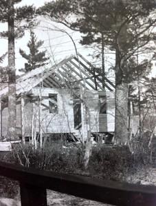 Cabin #103 under construction, fall 1946