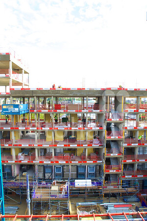 Blackburn Road student accommodation, West Hampstead - progress photos