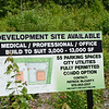 Signage advertising development space on South Street in Fitchburg. SENTINEL & ENTERPRISE / Ashley Green