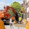 Road work is going on all over the City of Fitchburg. DPW employees work on a road project on Main Street where Oliver Street crosses over Main. SENTINEL & ENTERPRISE/JOHN LOVE