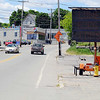 Road work is going on all over the City of Fitchburg. This sign is to notify motorists on Lunenburg Street.  SENTINEL & ENTERPRISE/JOHN LOVE