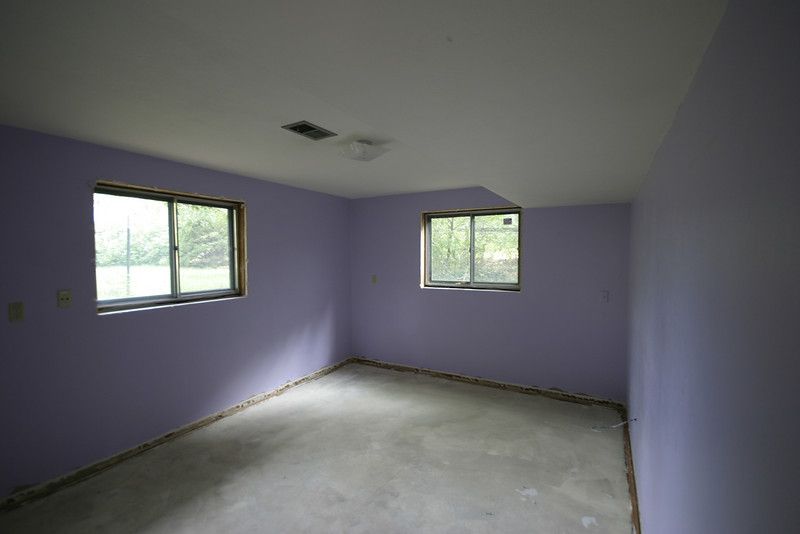 Someday this will be my office (Tim). And no, I'm not going to leave it purple.