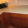Oooh...pretty pulls and countertop.