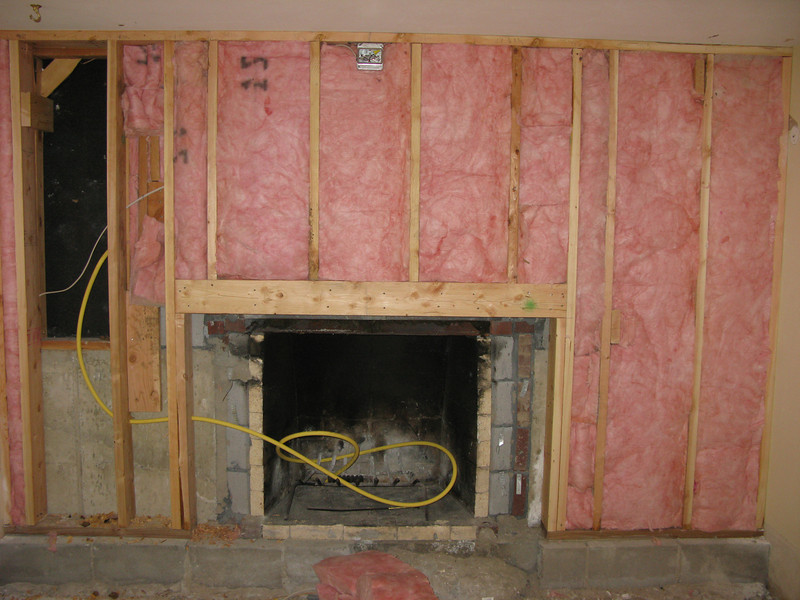 There was basically NO insulation in this house. That's better...