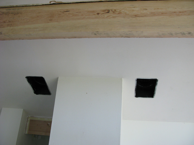 The two main vents from the evaporative cooler.