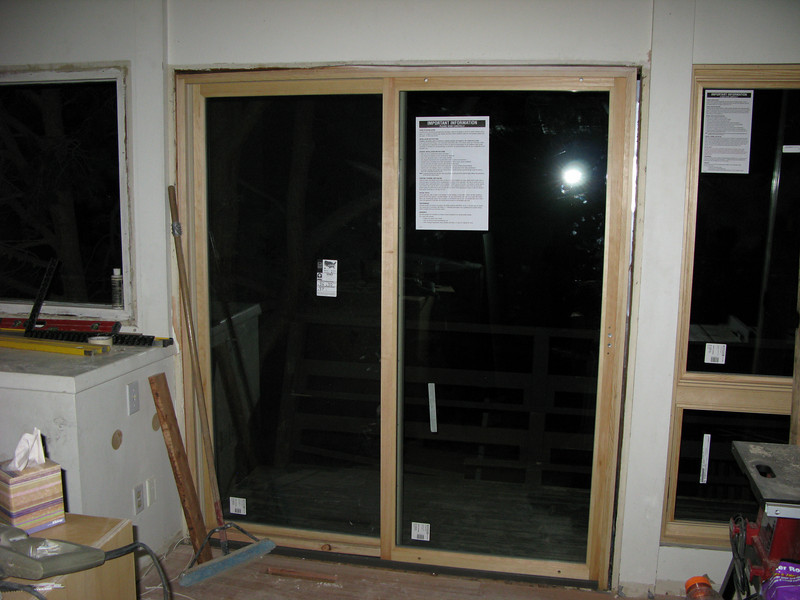 That front sliding door, now in place.