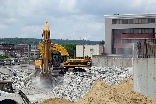 Parking lot for Fitchburg City Hall comes down