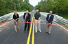 Officials gather in East Rockhill Township for the opening of the new North Rockhill Road bridge.   Friday, August 1, 2014.   Photo by Geoff Patton