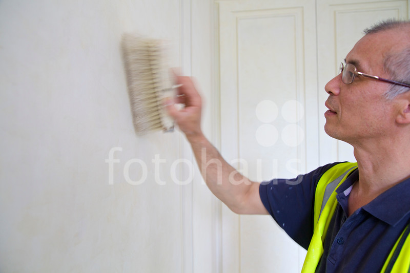 Specialist French decorators working at 24 Kensington Palace Gardens, London