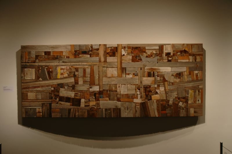 George Morrison Wood Collage